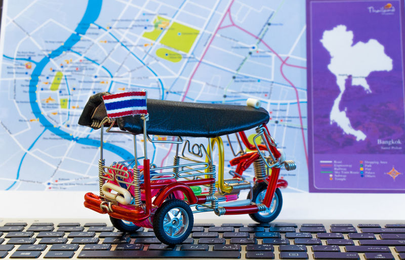 "Travel plan by Models Three wheel taxis in Bangkok Thailand , is called "" Tuk Tuk or Took Took "" Bangkok City ConvenientlyColorBlind Entity Models Taxi Transport Transportation Travel Wheel Background Blue Car Cheap Culture Drive Fast Handmade Hire Identity Job Quick Transportation Building - Type Of Building Transpose Vehicle"