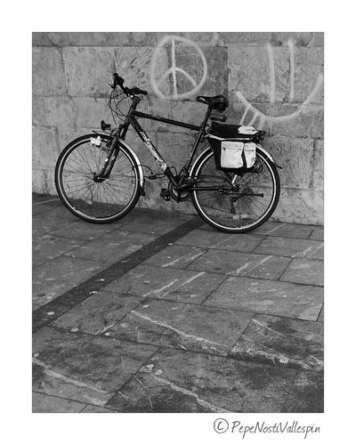Poladesiero Blackandwhitephotography Black And White Photography Black&white Blackandwhite Photography Pola De Siero Blancoynegro Blackandwhite Black And White Outdoor Photography No People Bicycle Bicicleta Outdoors Transportation