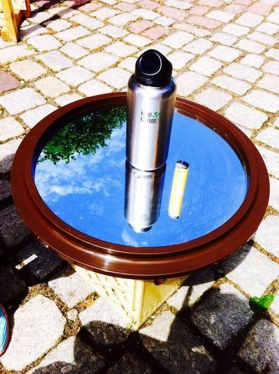 Mirror Bottle Lighter Sky Table Tablet