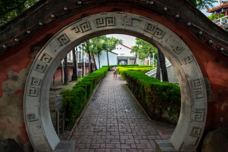 Tainan, Taiwan Arch Architecture Built Structure Circle Communication Day Direction Footpath Incidental People Nature Number Outdoors Park Park - Man Made Space Plant Shape Text The Way Forward Tree