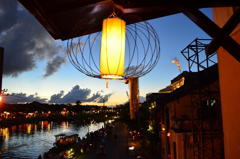 Lantern lit streets in the ancient port town of Hoi An Lantern Hoi An Evening Vietnam Streets Walking