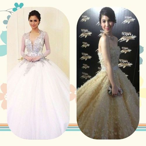 Gowns. <3 @chinitaprincess @juliabarretto Starmagicball2013