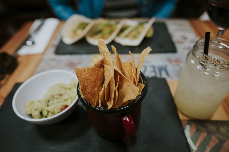 Dinner Nachos Spicy Tacos Tex-Mex Food And Drink Guacamole Mexican Ready-to-eat Restaurant Sharing  Togetherness