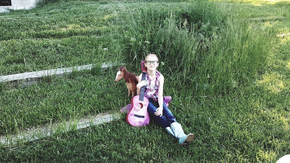 Outdoors Fun Playing Daughter Day