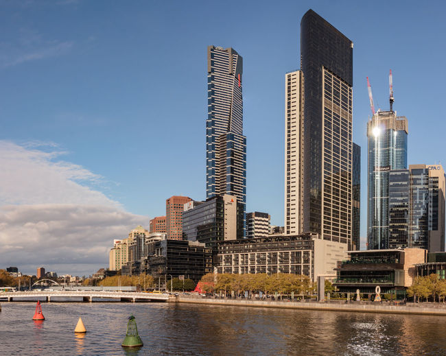 Sky Line, Yarra River, Melbourne,Australia. Australia City Cityscape Crown Casino Architecture Building Building Exterior Built Structure City Cityscape Financial District  Lucky Country Modern Nature Office Office Building Exterior Outdoors Sky Skyscraper Spire  Tall - High Tourism Tower Travel Destinations Urban Skyline