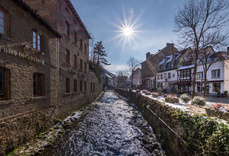 Wintersun Bad Münstereif Bad Münstereifel Eifel Eifel Germany Fluss Im Winter Germany GERMANY🇩🇪DEUTSCHERLAND@ River