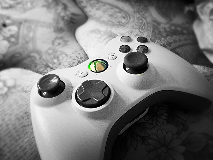 Indoors  Close-up Gamer Xbox Blackandwhite