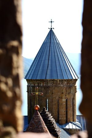 Architecture Building Exterior Tourism Exploretheworld Traveling Nature Photography Georgia Beauty In Nature Rsa_architecture Tv_churchandgraves Tv_pointofview Cathedral Ananuri Castle Through The Window