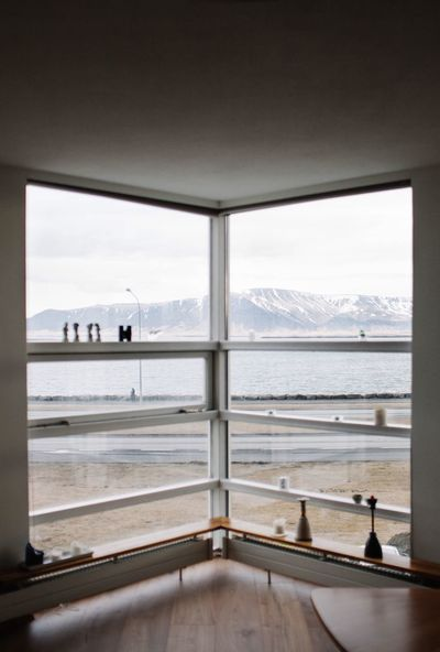 Interior Interior Design View Iceland Rekjavik Mountain Water Window Sea Day Sky Nature Architecture Indoors  Built Structure Glass - Material Transportation Railing Transparent Travel Real People Modern Hospitality Modern Hospitality