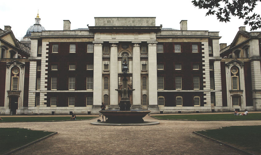 Architecture Building Exterior Built Structure City City Life Day Façade Greenwich London London United Kingdom No People Outdoors Royal Naval College Tree