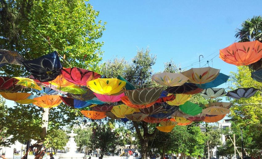 Artistic Umbrellas Streetart Colours Party Umbrellastreet