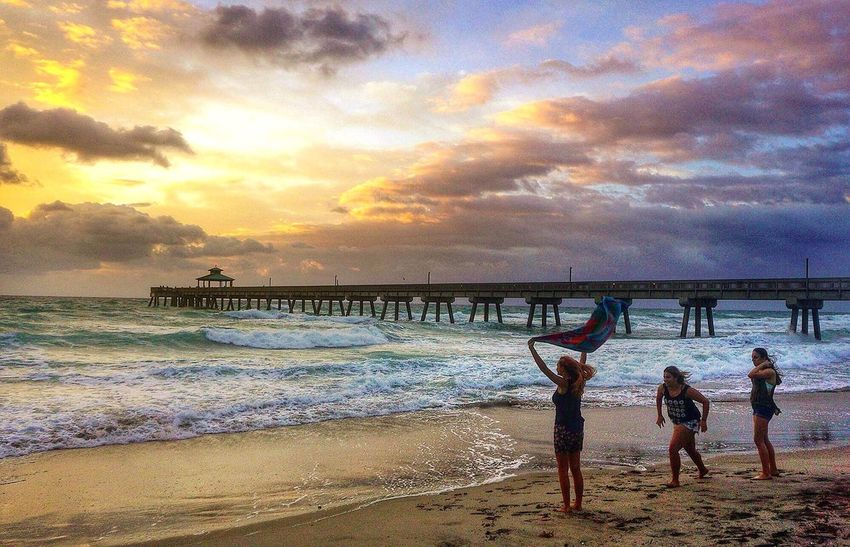 Sunrise over Deerfield Beach Florida Sunrise Sunrise_sunsets_aroundworld Sunrise_Collection Youth Of Today Clouds And Sky Pier