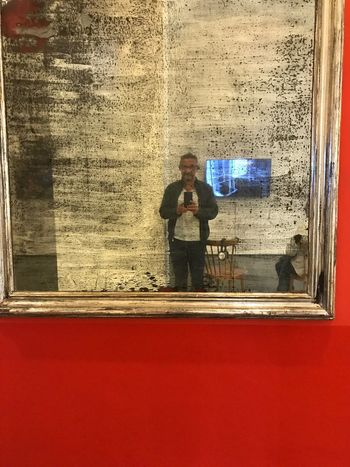 Photographing One Person Indoors  Building Interior IPhone 7 Plus IPhoneography Iphonephotography Iphn Photography Reflection Multi Colored Mirror Selfie red