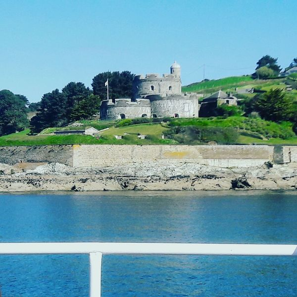 St Mawes Castle Water Architecture Building Exterior Clear Sky England 🇬🇧 Ferryboat St Mawes