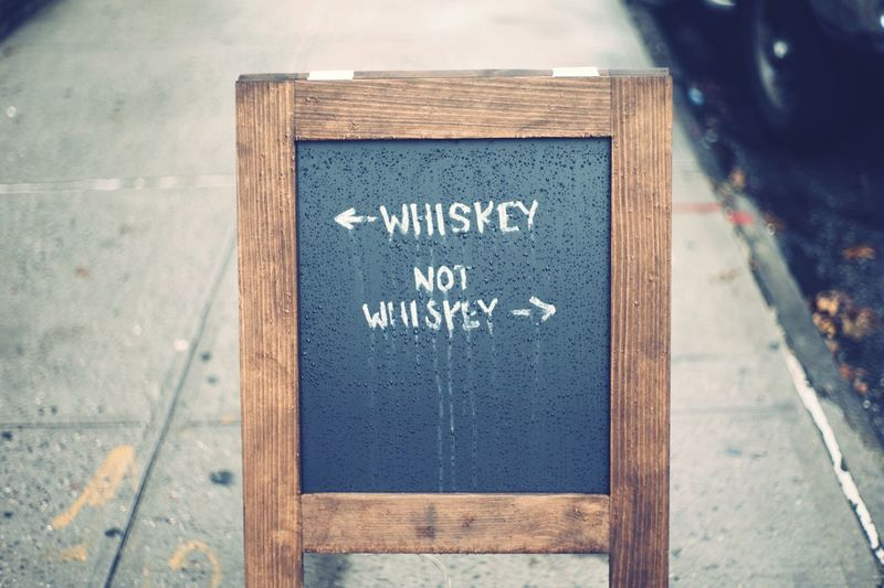 Walk This Way Sign Whiskey I Heart New York