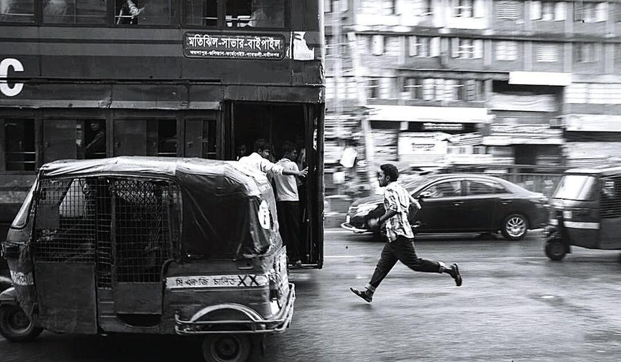 The Street Photographer - 2016 EyeEm Awards Lifestyles Dhaka Bangladesh Street Photography People Buslife Moments Blackandwhite
