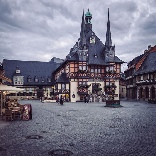 Townhall Wernigerode EyeEm Best Shots Rathaus Square Townhall Wernigerode Architecture Building Exterior Built Structure City Cloud - Sky Day Harz Harzer History No People Outdoors Place Of Worship Religion Sky Spirituality Travel Destinations