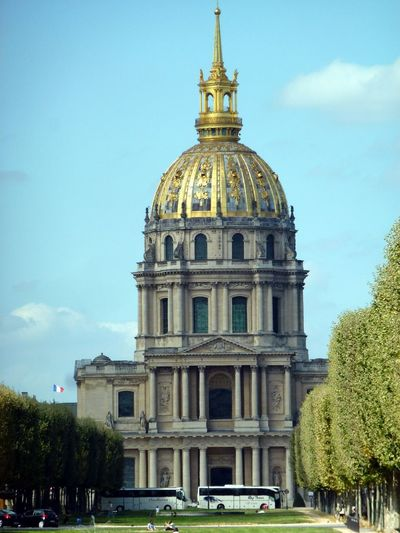 Hotel Des Invalides Architecture Building Exterior Built Structure Cloud - Sky Day Dome History No People Outdoors Place Of Worship Sky Spirituality Travel Travel Destinations Tree