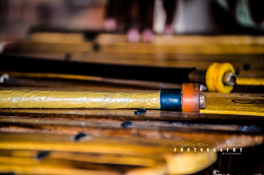 Wood - Material Selective Focus Art And Craft Craft Yellow In A Row Equipment Creativity Black Color