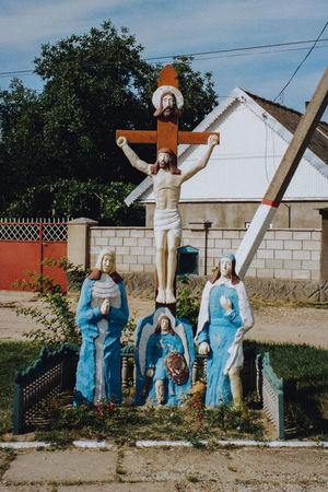 Worship cross in the Taslic village, Transnistria Moldova Transnistria Folkart Art Cross Worshipcross Jesus Anthropology Visualanthropology
