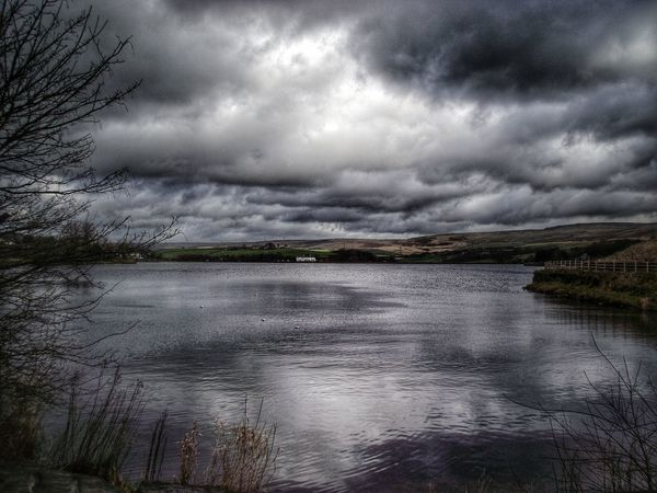 Beautiful view of Hollingworth Lake on a cold and windy day Peace And Quiet Check This Out Creative Light And Shadow Color Photography Simplicity See The World Through My Eyes HDR Eyeem Photography Fujifilm Showcase: February EyeEm Best Shots - HDR EyeEm HDR Hdr Edit Photography EyeEm Masterclass Beautiful Nature Scenery Shots Atmospheric Mood Hdr_Collection EyeEm Nature Lover Eye4photography  Snapseed Lake View Clouds And Sky EyeEm Best Shots - Landscape The Great Outdoors With Adobe