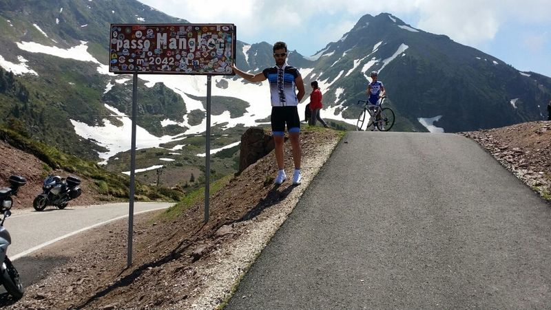 That's Me Mountains Cycling It's Very Hard.