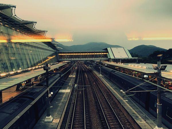 #hongkong Transportation Railroad Track High Angle View Rail Transportation No People Train - Vehicle Outdoors