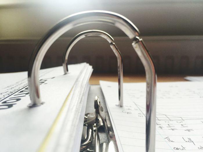 Close-up of ring binder