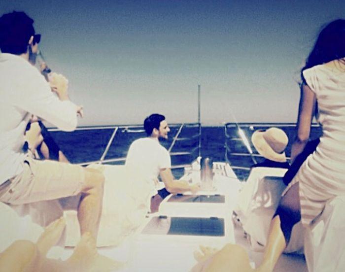 Boating On The Ocean Summertime Blue Sky