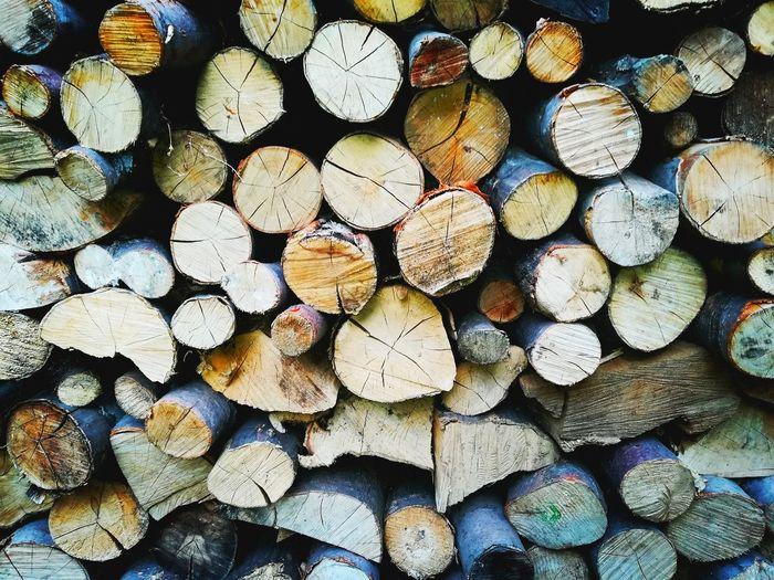 woods EyeEmNewHere Full Frame Backgrounds Large Group Of Objects Log Abundance Stack Timber