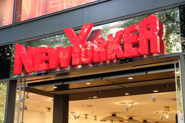 NewYorker store sign. Founded in 1971, NewYorker is a German clothing retailer that primarily addresses the target group of 12 to 39 year olds Clothes Store Brand Clothing Shop Clothing Store Newyorker Retail  Retailer Store