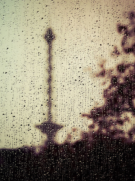 Rainy Day Wet Drop Rain Window Transparent Glass - Material No People Indoors  Full Frame Nature Water Built Structure Close-up Backgrounds Architecture Sky Day RainDrop Glass Rainy Season Funkturm Charlottenburg  Blurred Motion