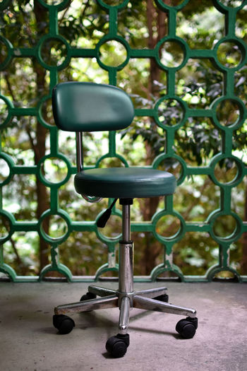 Building Structure Building Style  Green Color Green Green Green!  Green Office Chair Office Chair Old Fashion Style Architectural Feature Architectural Detail No People Day Indoors  Close-up The Graphic City