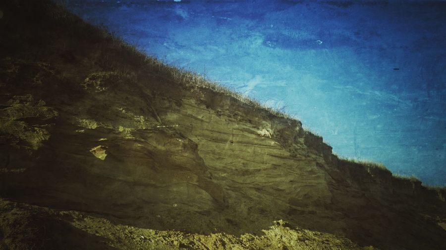Nature No People Sky Beauty In Nature Outdoors PhonePhotography Mobilephotography Me, My Camera And I Scenic Outdoor Photography Vintage Retro Cliff Cliffside Erosion Sand Beach CliffEdge Crumbling Outdoor Outdoor Photograghy Landscape Vintage Photography