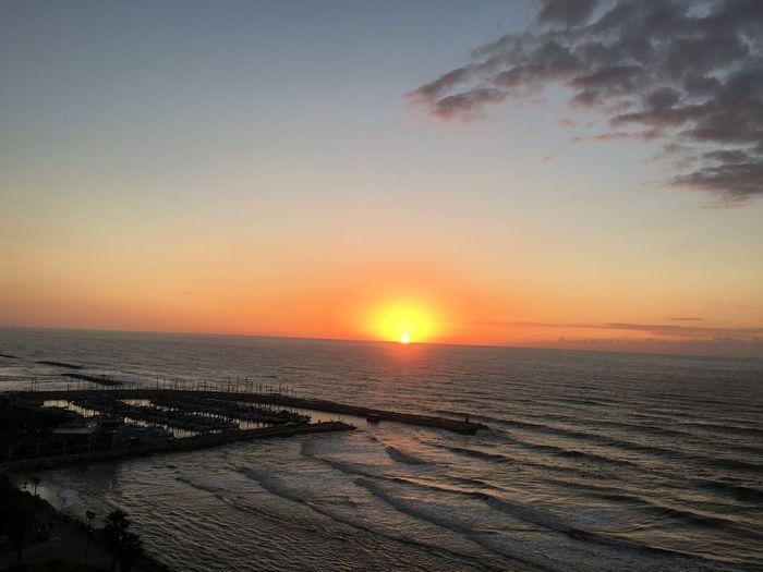 Sunset in Tel-Aviv Sunset Sky