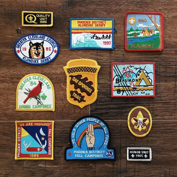 going through some old boxes this morning. found some of my old camp badges. Onmyhonor Boyscoutsofamerica Childhood Retropatches