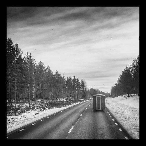 Privy on tour Pictureoftheday North Trucking Sweden On The Road HDR Collection Travelling Winter Streamzoofamily Nature_collection Landscape_Collection
