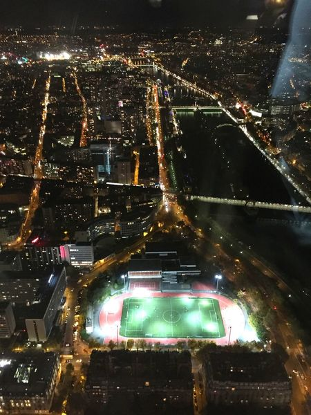 Eiffel Tower♥ Paris ❤ Illuminated Travel Destinations Night Outdoors Building Exterior View From Eiffel Tower Football Stadium