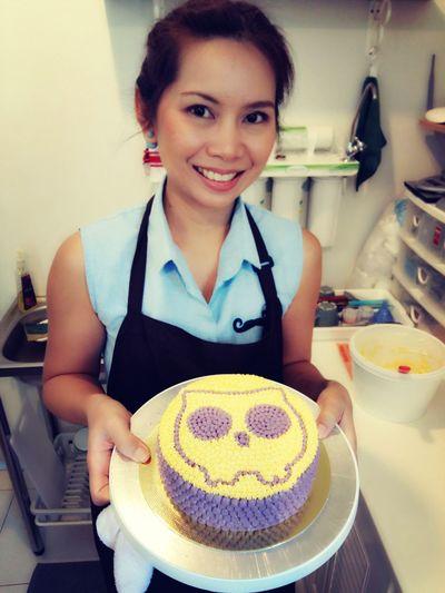 Owl Cake I am a funny baker 😂😂 I love my job 😘😘