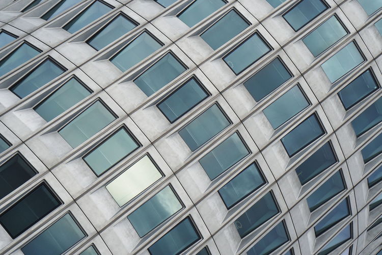 Architecture Building Exterior Built Structure Glass - Material Building Low Angle View Pattern Office Office Building Exterior Modern Geometric Shape Glass Window Façade