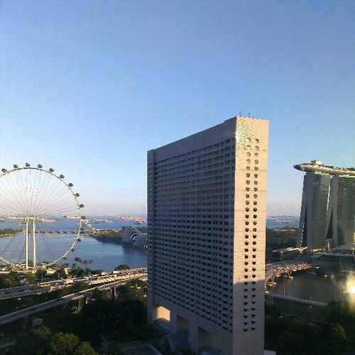 Checking out my great afternoon view. Nofilterfriday Sunset Singaporeslinging