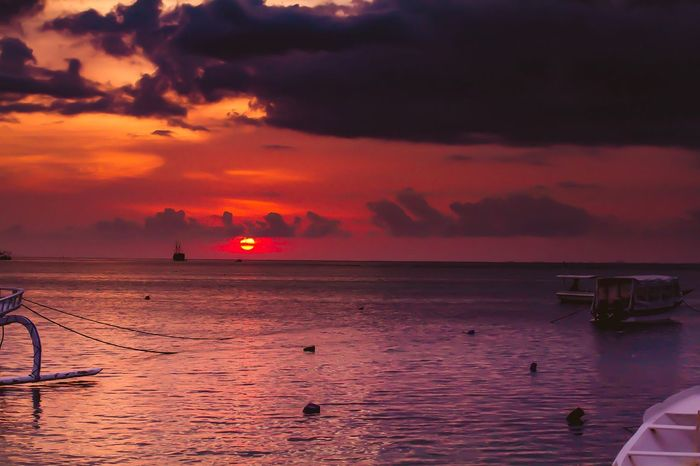 Insane sunset 🌅 Indonesia Waterfront Water Copy Space INDONESIA Water Sea Sunset Sky Beauty In Nature Scenics - Nature Cloud - Sky Nautical Vessel Horizon Horizon Over Water Silhouette Orange Color Nature Outdoors Reflection No People Transportation Tranquility Idyllic Tranquil Scene