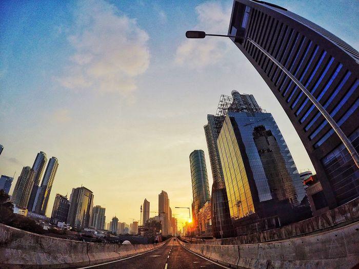 sunset city Modern Building Story