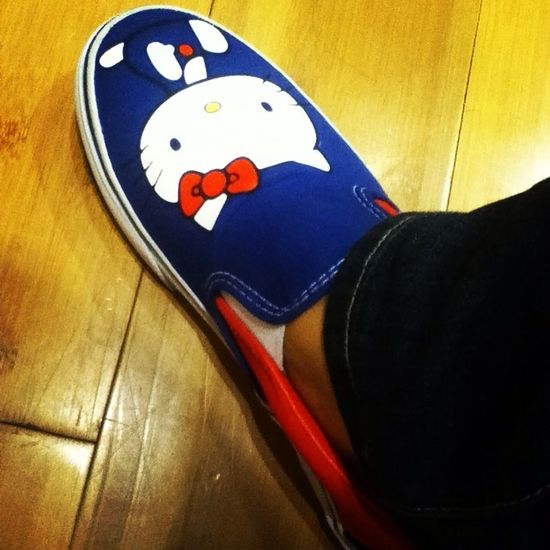 This caught my eyes. Tried it at Vans. I'll definitely go back for it. #HelloKitty