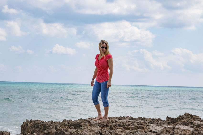 Casual Clothing One Person Blond Hair Beach Sky Cloud - Sky Taking Photos God Is Great. Nature Florida God's Beauty Tadaa Community Streamzoofamily Photooftheday Photography Coastal Feature Beautiful