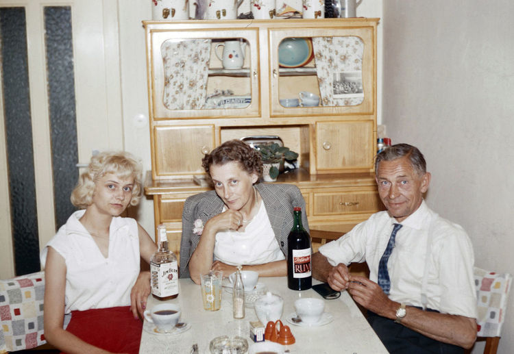 Alcohol Drinking Germany German Family 1962 Adult Alcohol Celebration Couple - Relationship Drink Drinking Drinking Alcohol Emotion Food And Drink Germanshepherd Glass Group Of People Indoors  Males  Men Refreshment Sitting Smiling Table Togetherness Wine Women