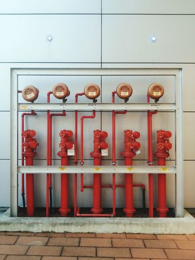 View of red valves