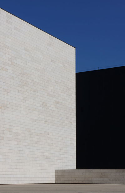 shapes #black  #Blue #Contrast #geometry #minimalism #minimalist #shapes #White Abstract Architecture Building Exterior Built Structure Clear Sky Concrete No People Outdoors Sky The Graphic City