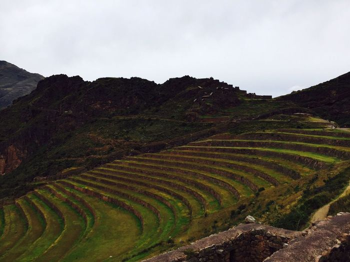 Amphitheatre By Mountains Against Sky
