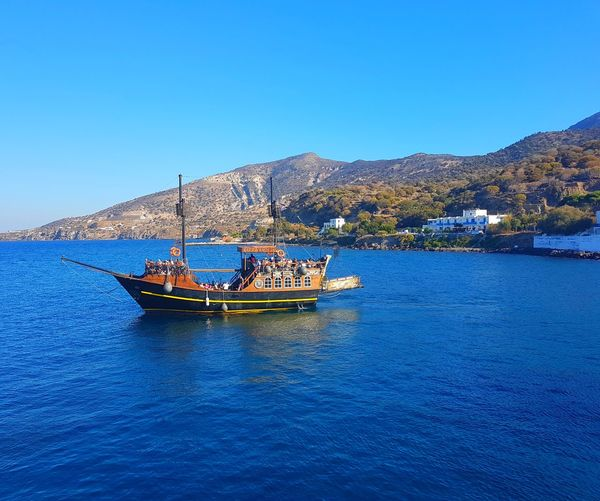 Nautical Vessel Pirate Ship Water Outdoors Tranquility Beach Vacations Tranquility Tranquil Scene Tourism Eyem Best Shots The Best From Holiday POV EyeEm Selects Greece. Travel Destinations Travel Ships On The Water
